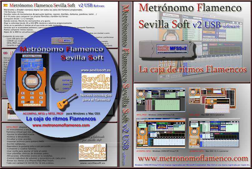 Metrónomo Flamenco Sevilla Soft v2 - Software USB+CD